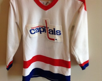 9373cb96f69 Vintage Washington Capitals jersey - Boys XL - CCM by Maska - 80 s -  5 Rod  Langway (handmade drawn)