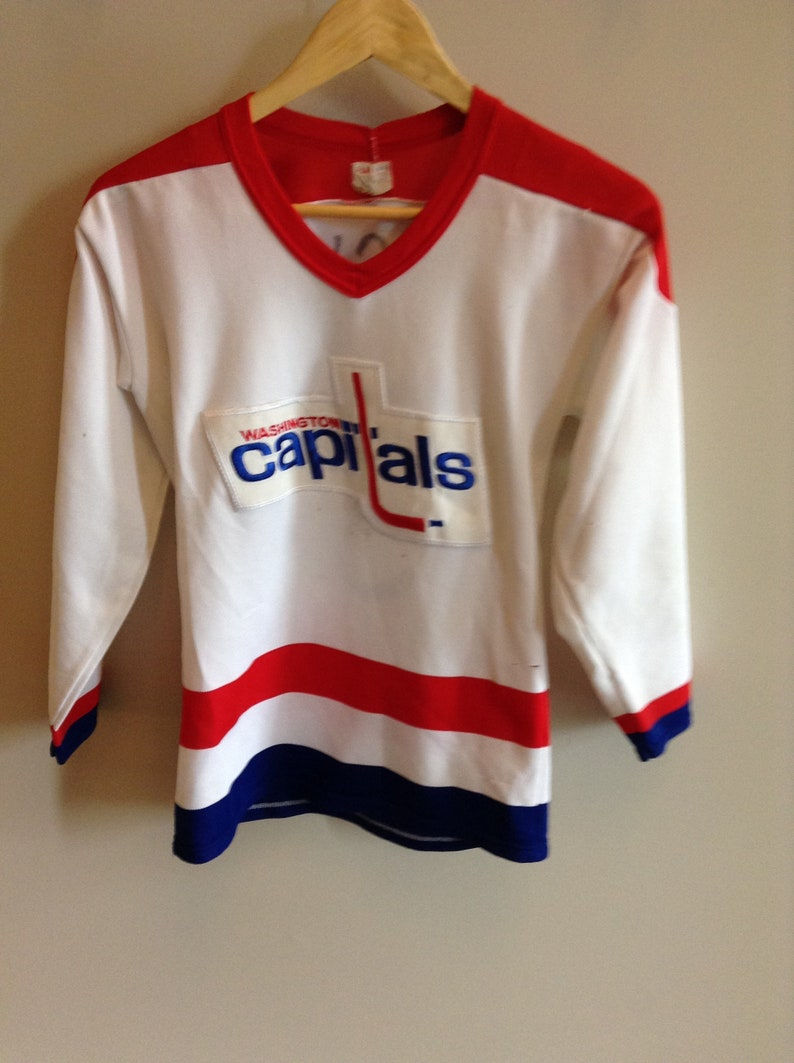 differently ef244 1aac1 Vintage Washington Capitals jersey - Boys XL - CCM by Maska - 80's - #5 Rod  Langway (handmade/drawn)