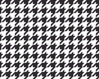 Black Houndstooth Fabric, Maywood Studio MAS8206 J, Black and White Houndstooth Quilt Fabric, KimberBell Basics, Cotton Yardage