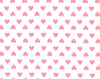PINK BLACK Fat Quarter//Meter100/% Cotton Fabric FQSew CraftXOXO Hearts