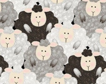 TIMELESS TREASURES 100/% COTTON QUILTING CRAFT FABRIC,SHEEP IN BALL BANDS C-3587