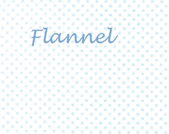 Moda Sweet Baby Flannel, 35285 22F Sky Cloud, Abi Hall, Blue & White Polka Dot Flannel, Flannel Baby Quilt Fabric, Cotton Flannel Fabric