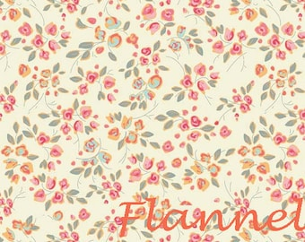 Shabby Floral Flannel Fabric 33f74a057c94