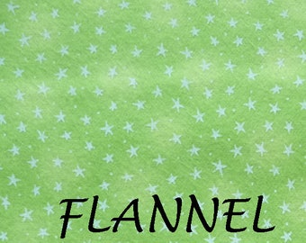 Lime Green Flannel Fabric, Blank Quilting F6383 Starlight, Green Star Flannel  Baby Quilt Fabric, Cotton Flannel