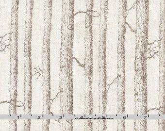 Brown Birch Tree Fabric, Timeless Treasures Katie Pertiet C5263 Wilderness, Woodland Quilt Fabric, Tree Trunk Landscape Fabric, Cotton