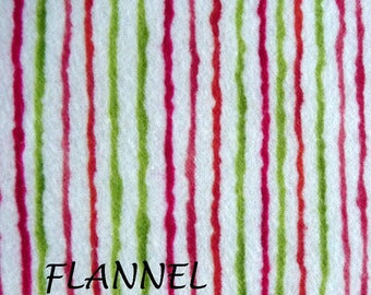 Red & Green Striped Flannel Fabric, Benartex 2367, Nancys Holiday Favorites, Christmas Flannel Fabric,  Holiday Flannel, Childrens Fabric
