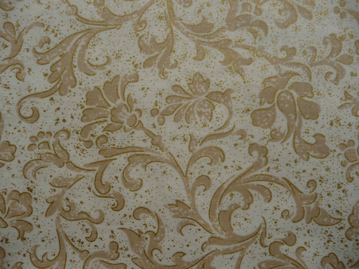 Metallic Gold Cotton Fabric F880 Baroque Christmas Fabric | Etsy