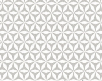 Rustique, Michael Miller DC6412 Shark Tooth Gray,  Emily Herrick Crazy Old Ladies, Grey & White Quilt Blender Fabric, Cotton