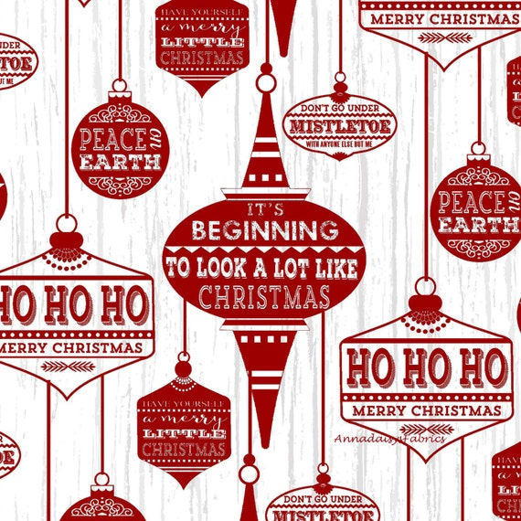 retro christmas words fabric henry glass holiday traditions