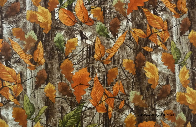 TREES Fabric Fat Quarter Cotton Craft Quilting Autumn FOREST WOODS