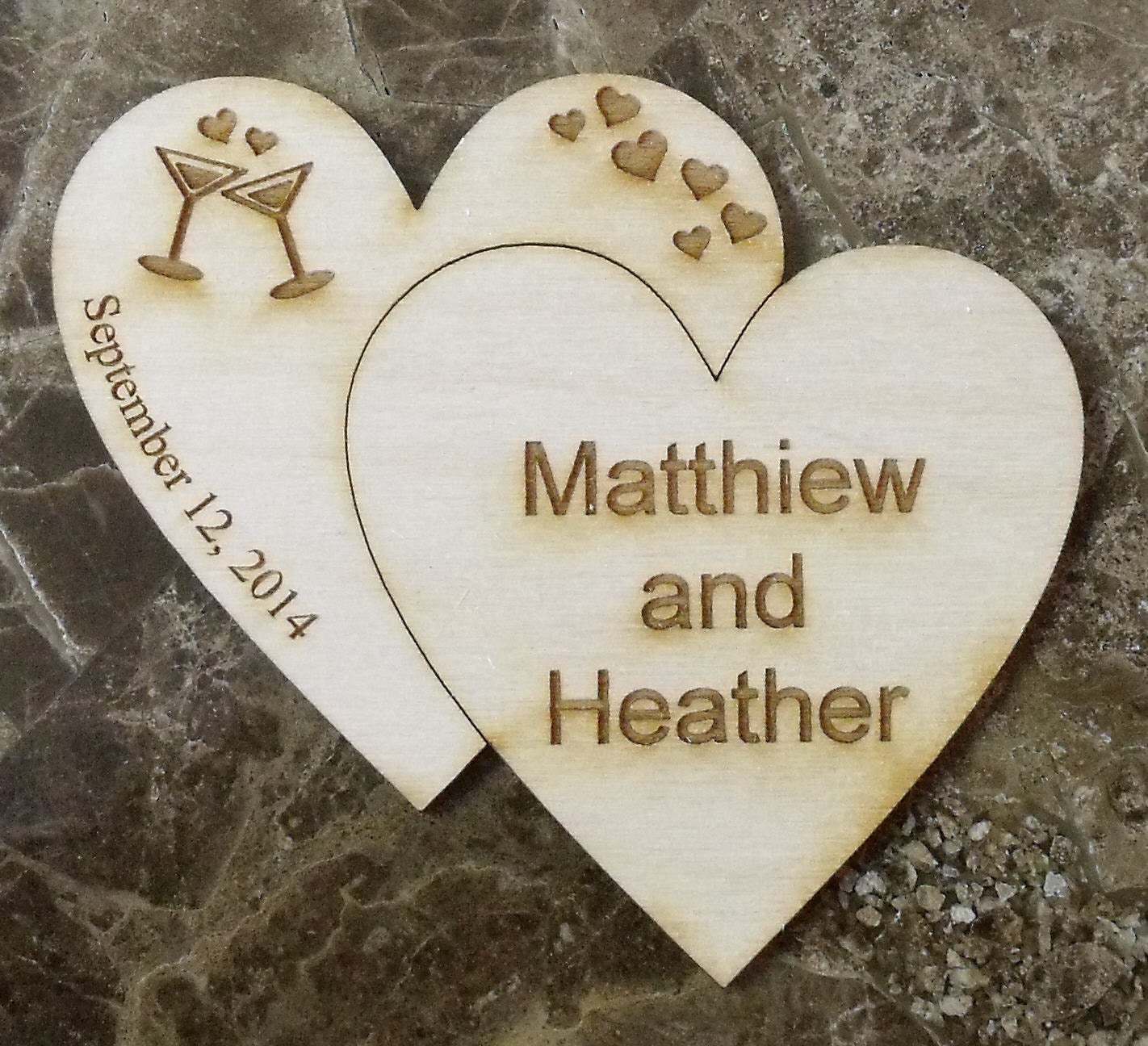 Save The Date Wedding Wooden Magnet 100 Custom Rustic