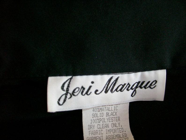 VTG Jeri Marque LS Black Metallic Gold Silver Polka Dot Oversized Boxy Disco Blouse Size SM