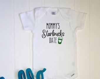 c6fe3feb2 Starbucks ONESIE® //New baby ONESIE® // Unisex Onesie® // Mommy's Starbucks  date // Funny baby gift // Starbucks lover // Coffee love