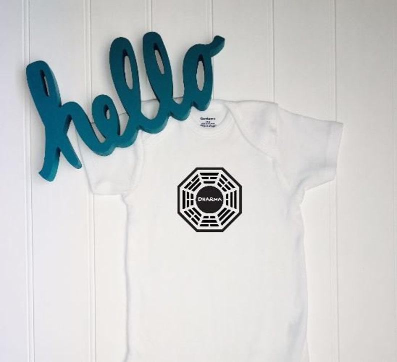 e67f91f4494e LOST ONESIE®    Dharma Initiative    Baby Shower Gift