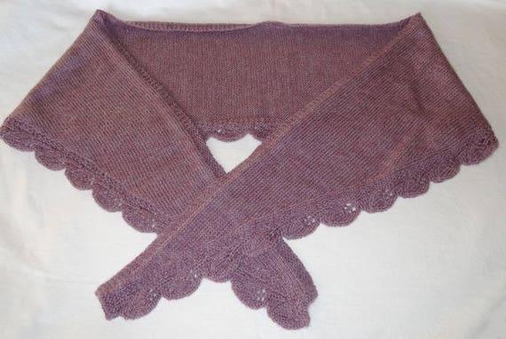 Etole au tricot   parme et feuilles   laine   mohair   Etsy f1882baf9fe