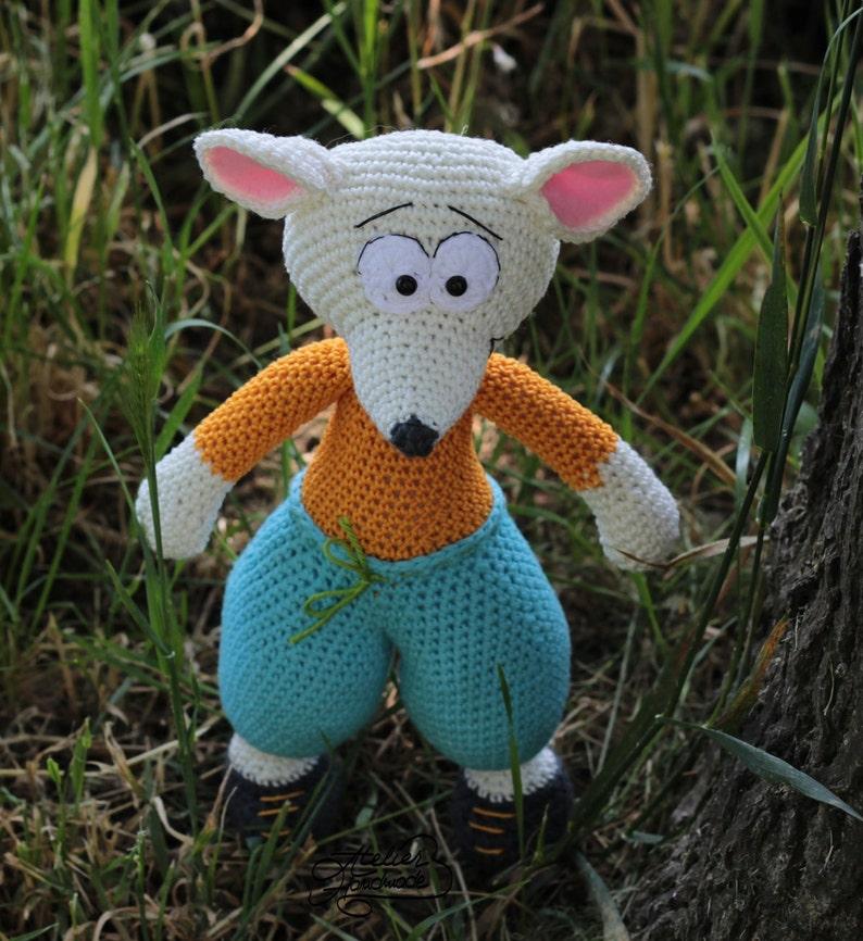 Crochet Pattern Mouse  Bernie  Crochet Mouse Stuffed Mouse image 0