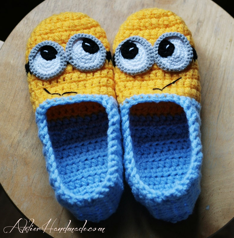 Crochet Pattern Slippers  Adult sizes  PDF FILE with Instant image 0