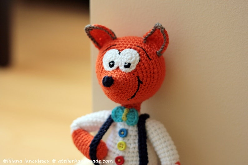 Crochet Fox Pattern Amigurumi: Vasilik Amigurmi image 0