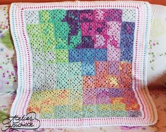 Crochet Baby Blanket | Stroller Baby Blanket Cotton. FREE SHIPPING