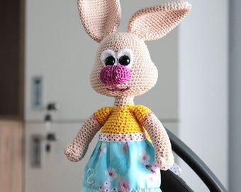 Amigurumi Crochet Bunny Pattern - Zoe, the shy toy rabbit