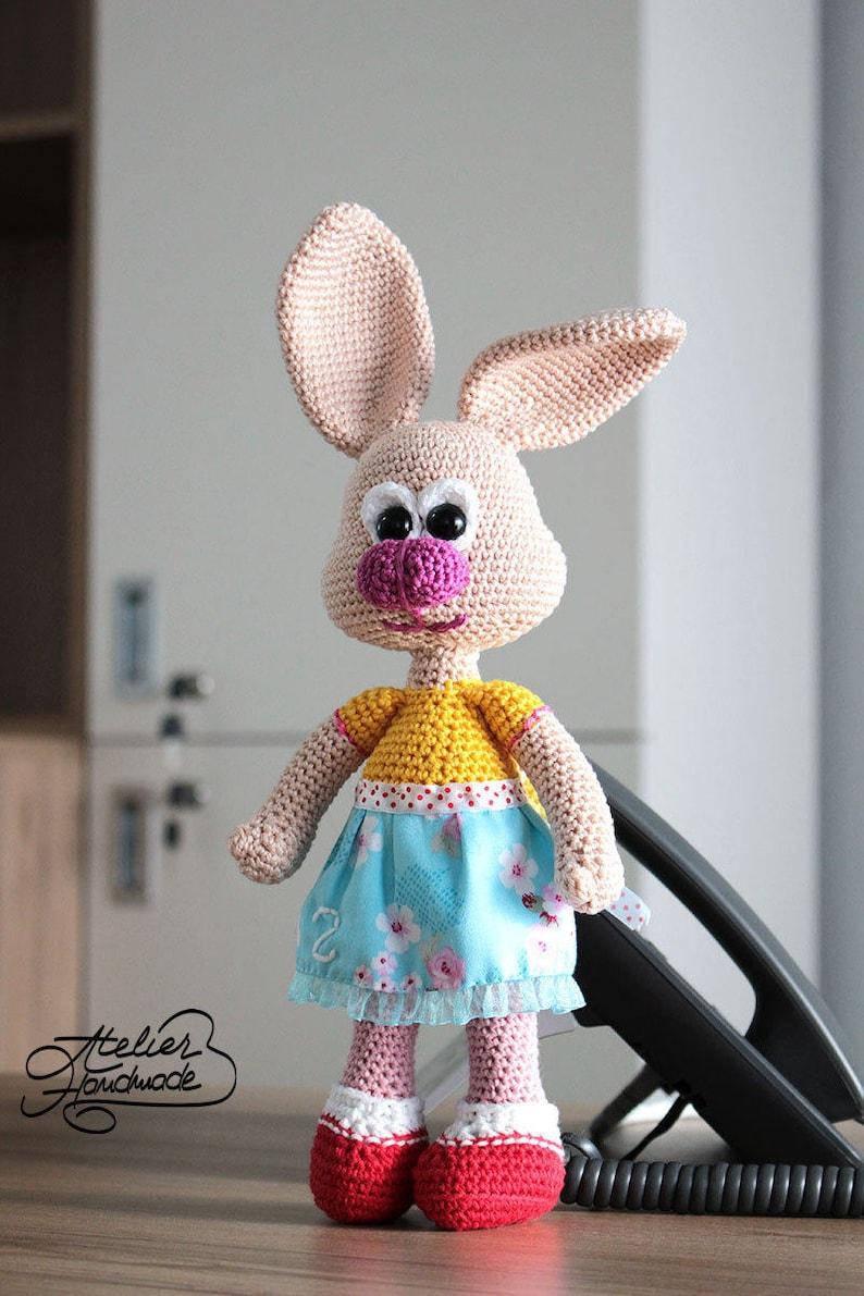 Amigurumi Crochet Bunny Pattern  Zoe the shy toy rabbit image 0