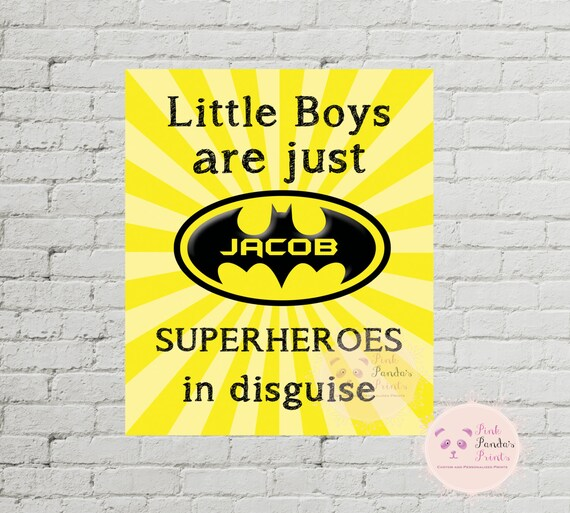 Little Boys Are Just Superheroes In Disguise Batman Etsy