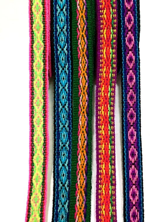 Peruanischen geometrische Corlorful Bänder Packung von 5 | Etsy
