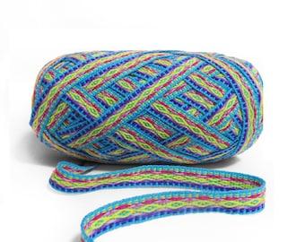 Geometric Ribbon Turquoise 5 meters,  woven ribbon jacquard, trim decorative,wholesale ribbon supplier,ethnic ribbon , ribbon by meter