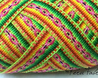 Green Lemon Jacquard Ribbon , Geometric trim, decorative ribbon, geometric ribbon,craft supplies,ribbon by the yard, craft supply