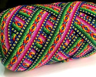 Blue Jacquard Ribbon , Geometric trim, decorative ribbon, geometric ribbon,craft supplies,ribbon by the yard, craft supply