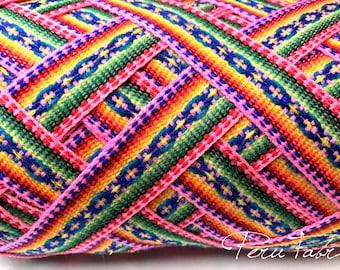 Pink Jacquard Ribbon , Geometric trim, decorative ribbon, geometric ribbon,craft supplies,ribbon by the yard, craft supply