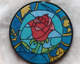 Beauty and the Beast Embroidered Wall Hanging