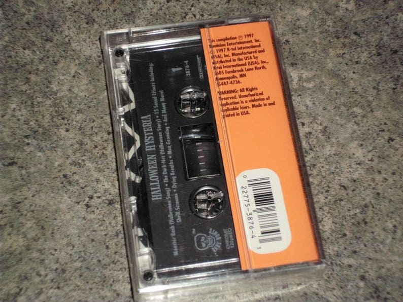Vintage 1997 Sound Effects Cassette - Halloween Hysteria - K-Tel