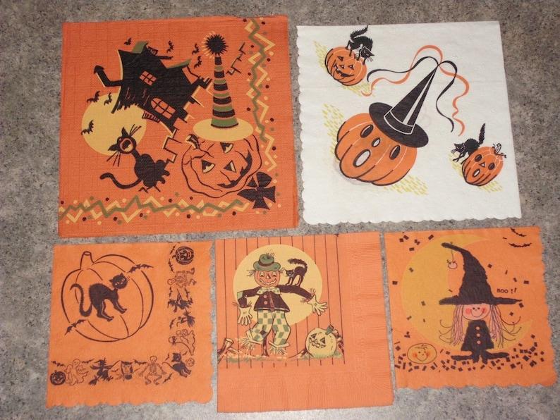 Vintage Halloween Napkins Page Two