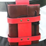 Refillable Leather Spell Book with Belt Holster