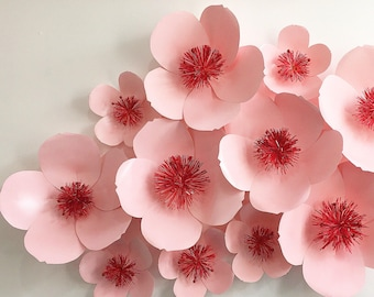 Cherry blossom paper flower backdrop
