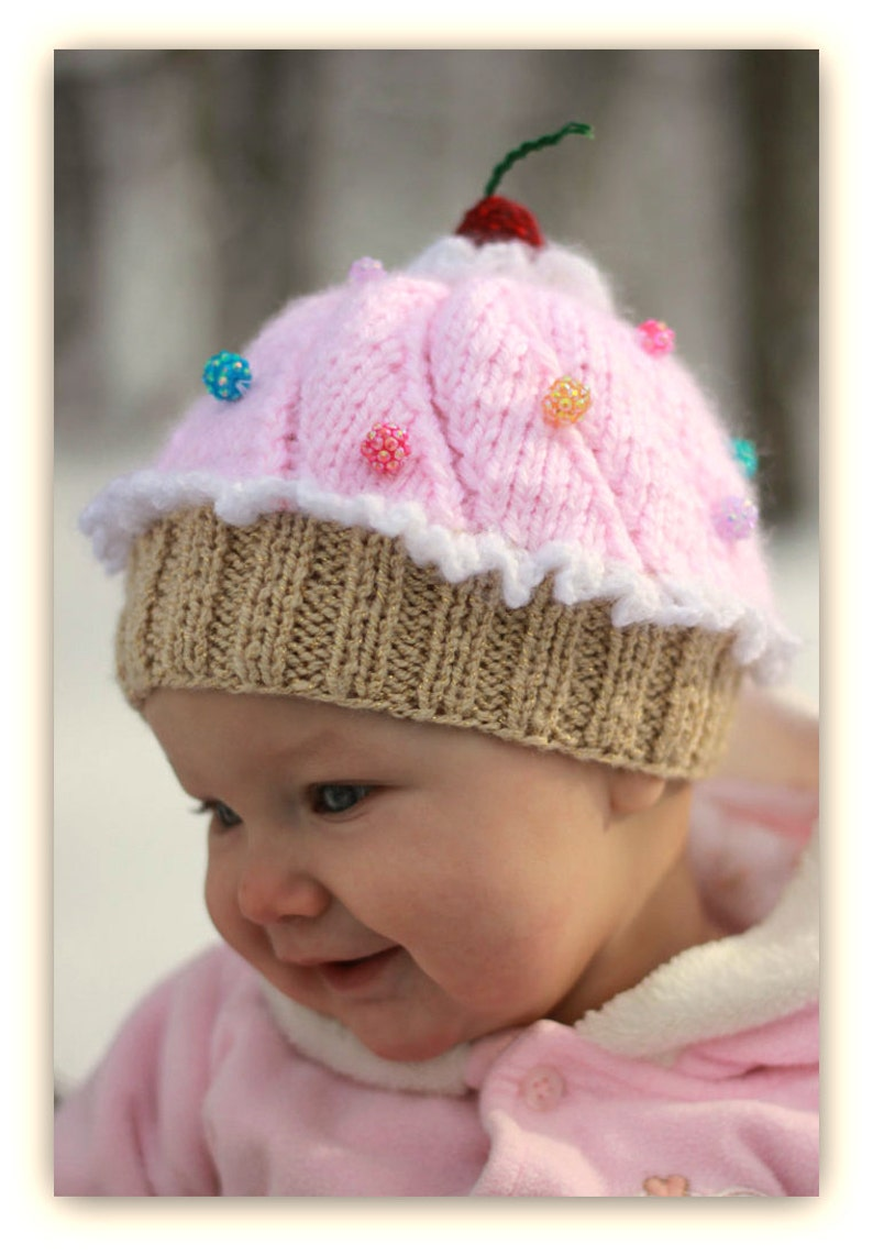 Knitting Pattern Baby Cupcake Hat Instant Download   Etsy