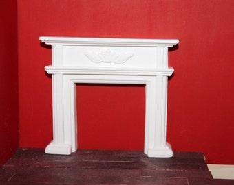 DOLLHOUSE MINIATURE Federation Fireplace White
