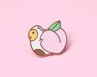 Guinea pig pin, Peach and Guinea pig Enamel pin, Guinea pig enamel pin, Guinea pig lover gift