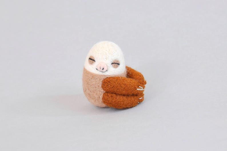 Two Toed Sloth Needle Felting Kit Sloth Needle Felting Kit Etsy