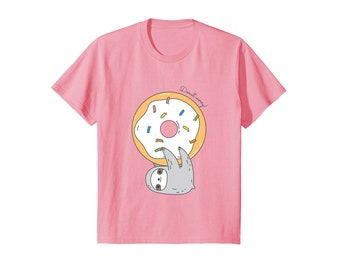 Cute Sloth shirt for kids and youth, sloth lover gift for kids