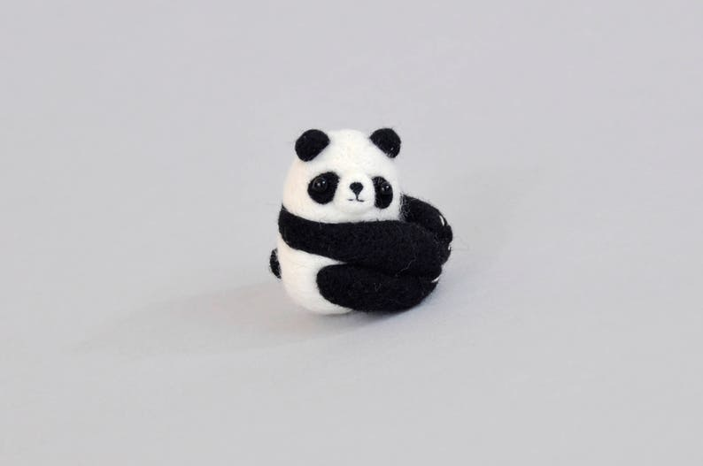 Panda Needle Felting Kit Needle Felting Kit Panda Diy Craft Etsy