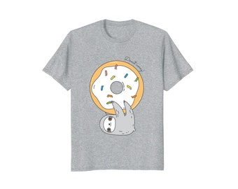 Donut worry Sloth T-shirt for men, cute sloth shirt for men, sloth lover gift