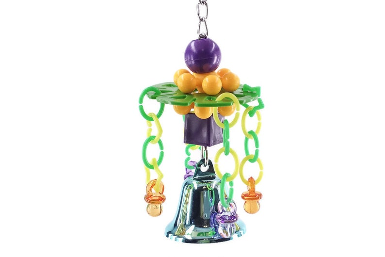 Parakeet Cockatiel Lovebird Conure Humdinger Bell Small Bird Toy Parrot Toy