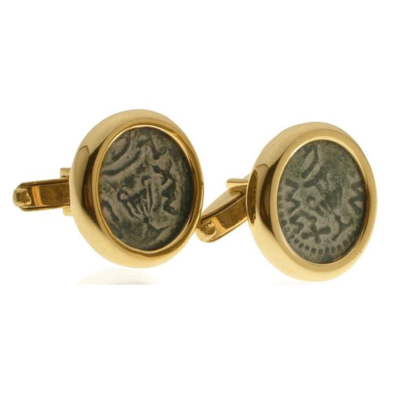 ancient coin cufflinks