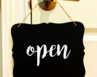 Open/Closed Chalkboard. Small Business signage. Business signage. Door hanger.