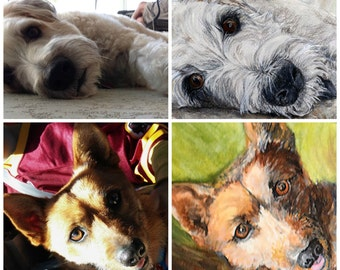 Custom Pet Portrait Painting of your Dog, Cat, or Horse from Photos