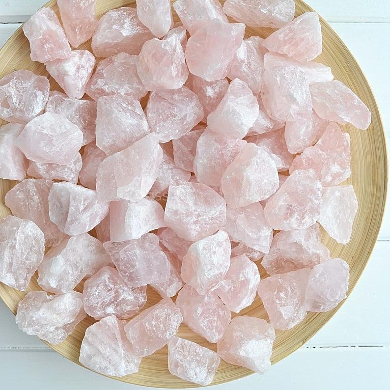 ROSE QUARTZ CRYSTALS  Raw Crystals Rough Crystal Raw image 0