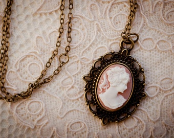 Resin Cameo Pendant (The Victoria Necklace)