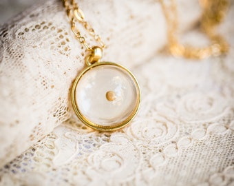 Mustard Seed Necklace in Orb